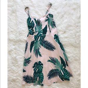 Pink Palm Leaf summer dress by Old Navy
